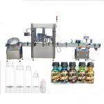 Servo Motor Dropper Bottle Filling Machine, Touch Screen Control Perfume Capping Machine